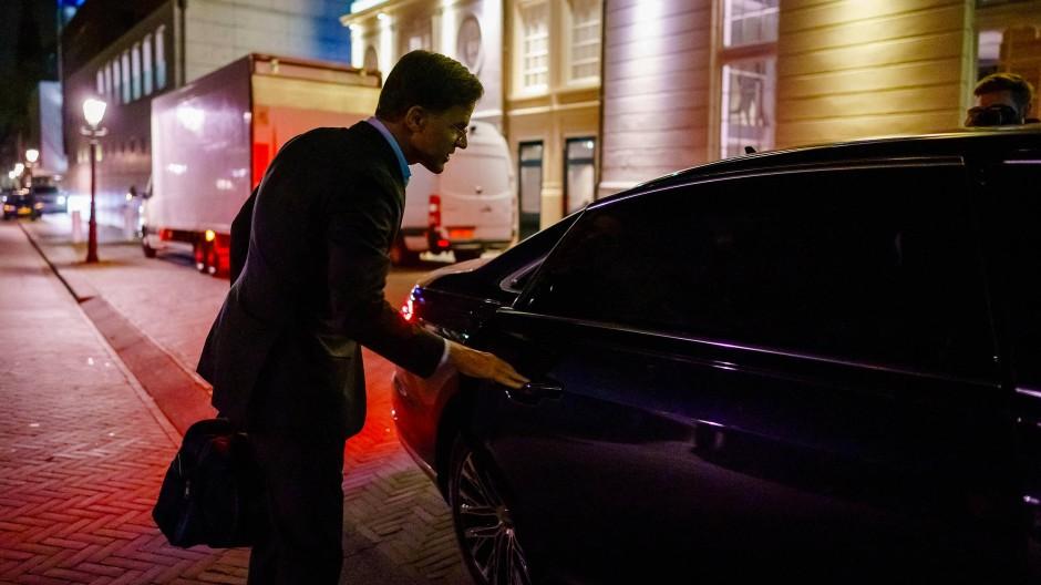 Der niederländische Ministerpräsident Mark Rutte in Den Haag am 27. September