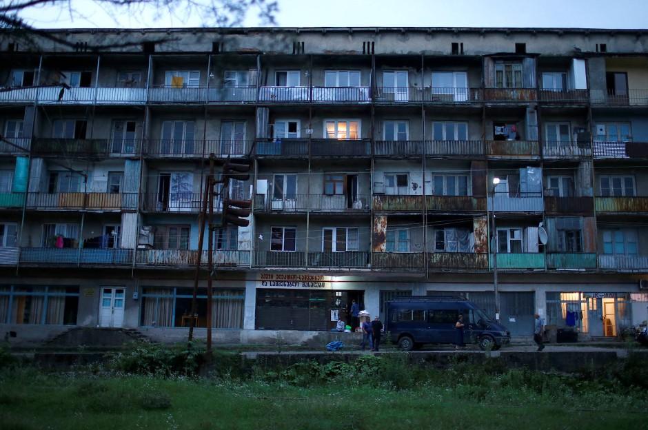 Ein Wohnkomplex aus der Zeit der Sowjetunion