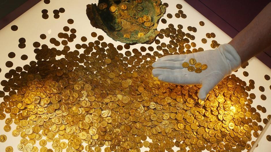 Römische Goldmünzen des Trierer Goldschatzes