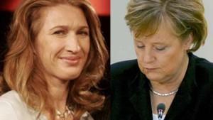 Steffi Graf ist sehr glücklich - Frau Merkel ist es nicht