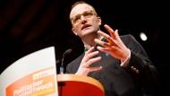 """Der CDU-Bundestagsabgeordnete Jens Spahn am Mittwoch in Fellbach bei einer Veranstaltung zum """"politischen Aschermittwoch"""""""