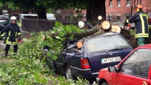 Schweres Unwetter über Deutschland