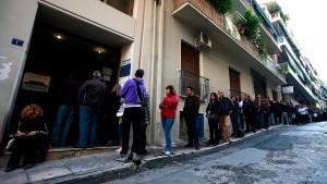 Arbeitslosigkeit in Griechenland steigt auf Rekordhoch