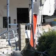 Das Sportzentrum im Süden Belgiens nach der Explosion in der Nacht zu Freitag