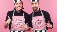 """Jetzt auch in der Gastro: Jakob Haupt (links) und David Roth haben den Männermode-Blog """"Dandy Diary"""" aufgebaut. Das reichte als Betätigungsfeld offenbar nicht aus."""