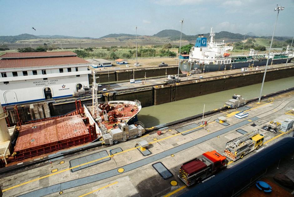 An der Schleuse: Der Kanal wird ausgebaut, so dass noch mehr Geld nach Panama fließen kann.