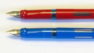 Das ist keine Parteinahme, Geha-Füller sehen ebenfalls gut aus: Pelikan-Geräte, um 1989.