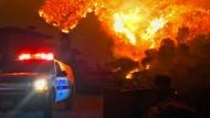 Sechs Häuser in dem Villenviertel Bel Air sind vom Feuer zerstört worden.