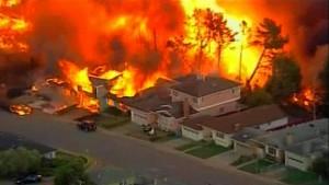 Feuersbrunst nach Gasexplosion