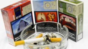 Künftig Gruselbilder auf Zigarettenschachteln