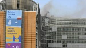 Feuer im Gebäude der EU-Kommission