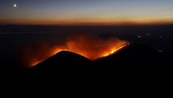 Vierzig Kilometer Feuerfront
