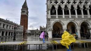 Kein Hochwasser in Venedig dank Hochwasserschutzanlage
