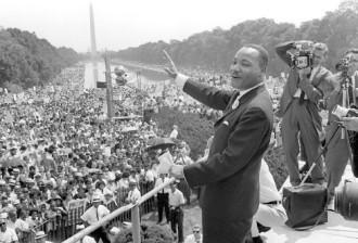 Martin Luther King An Einem Glücklichen Tag Seines Lebens