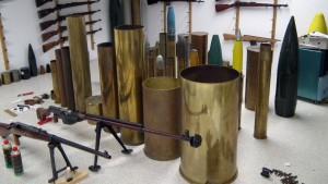 Waffennarr hortete Weltkriegs-Granaten