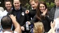 Britische Royals feuern Läufer an