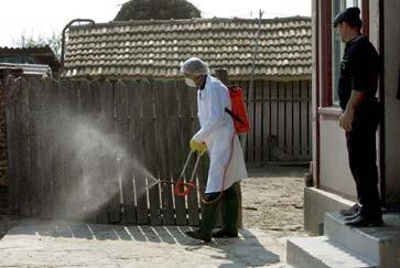 Die Höfe werden desinfiziert...