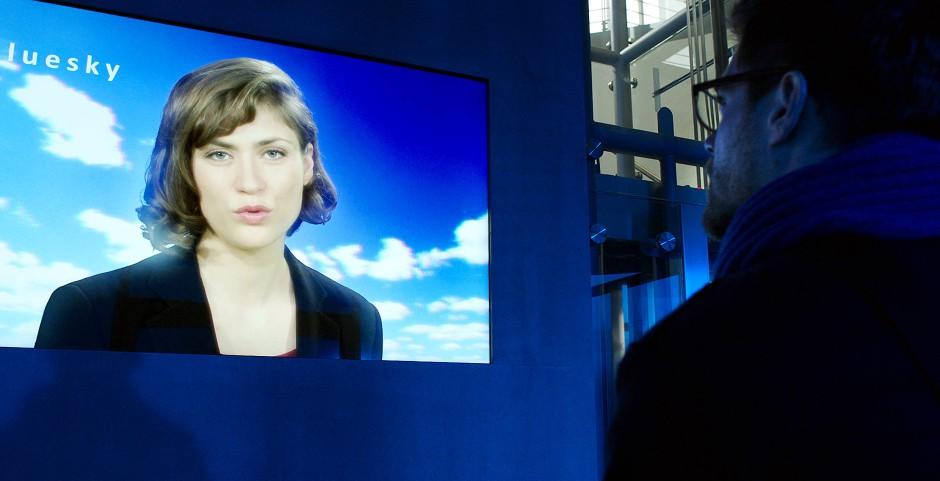 Lebt als Avatar in der Eingangshalle von Bluesky weiter: Schauspielschülerin Elena.