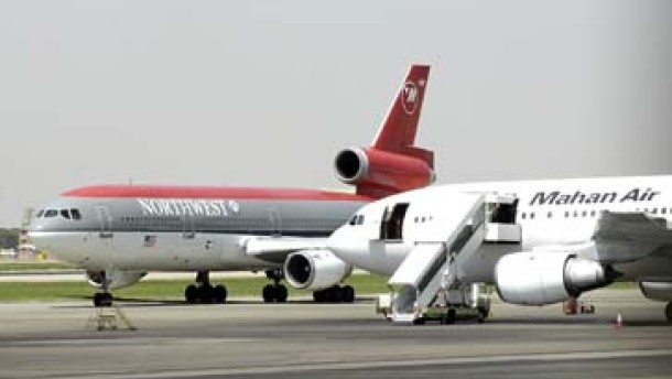 Amerikanisches Passagierflugzeug muß in Iran notlanden