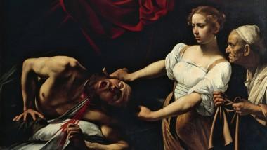 """Hier spritzt das Blut in die falsche Richtung: Michelangelo Merisi da Caravaggio (1571–1610), kurz Caravaggio genannt, hat sein Gemälde """"Judith und Holofernes"""" aus dem Jahr 1599 lebensecht gestaltet. Rechtsmediziner sehen das etwas anders."""
