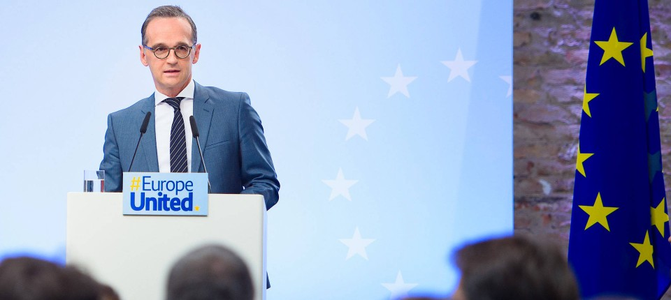 Heiko Maas hält am Mittwoch in Berlin bei einer Veranstaltung der pro-europäischen Organisation United Europe eine Grundsatzrede zur EU.