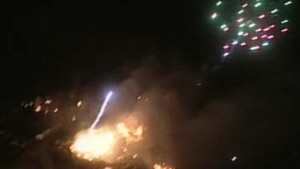 Katastrophe mit Feuerwerk