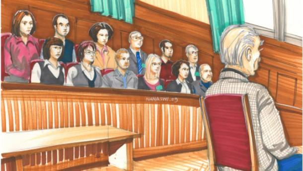 Das Urteil sprechen die Geschworenen