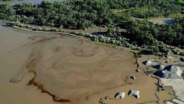 Ölteppich im Yellowstone