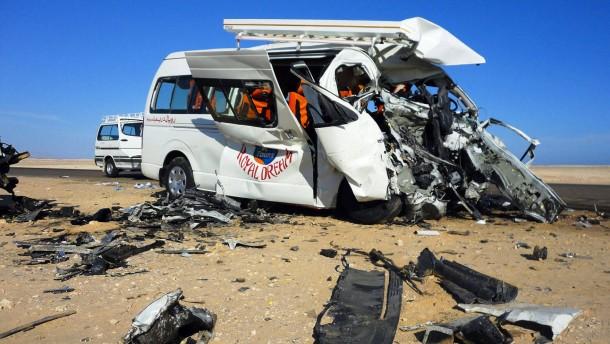 Deutsche sterben bei Busunglück in Ägypten