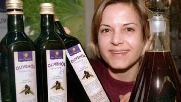 Olivenöl zum Teil erschreckend