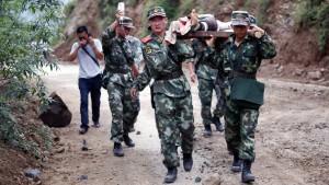 Starker Regen behindert Rettung von Erdbeben-Opfern