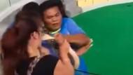 Python beißt Touristin in die Nase