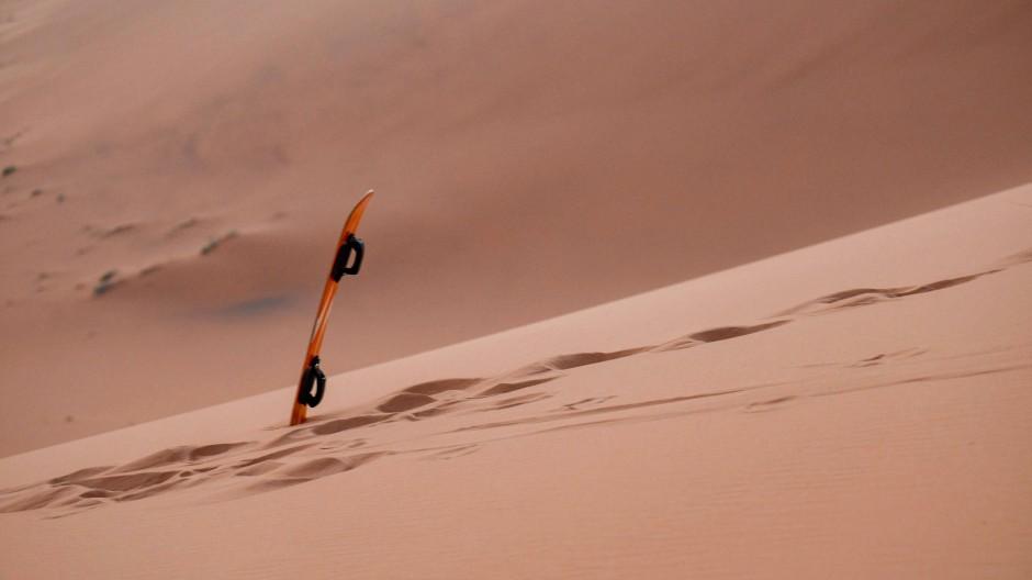 Tausche Schnee gegen Sand
