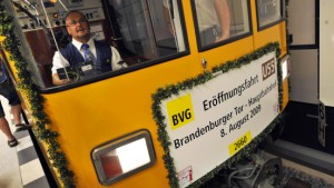 Große Premiere für kleine Kanzler-U-Bahn
