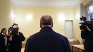 Der angeklagte Ladeninhaber am Donnerstag vor Gericht