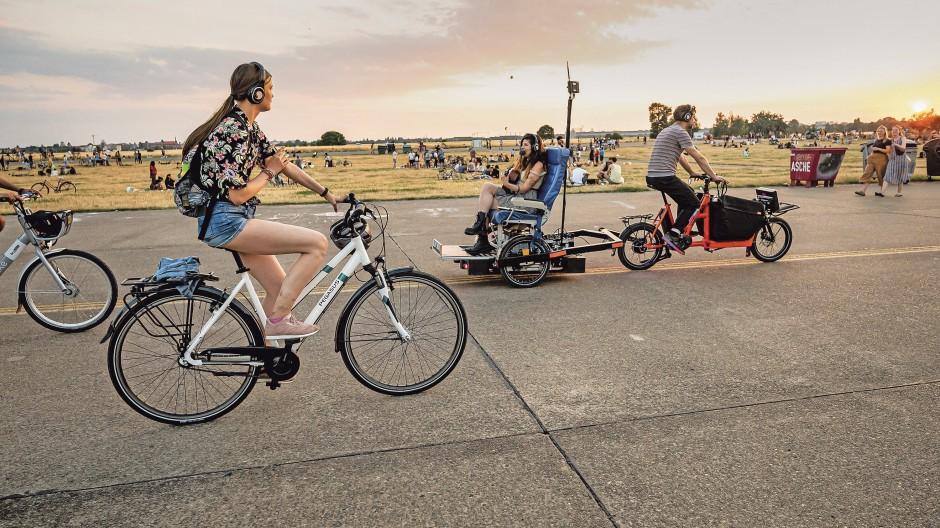 Vorfahrt für Radfahrer - wie hier in Berlin.