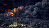 Spaniens größter Reifenfriedhof abgebrannt