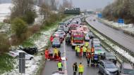 Verletzte bei Unfällen wegen winterlicher Straßenverhältnisse