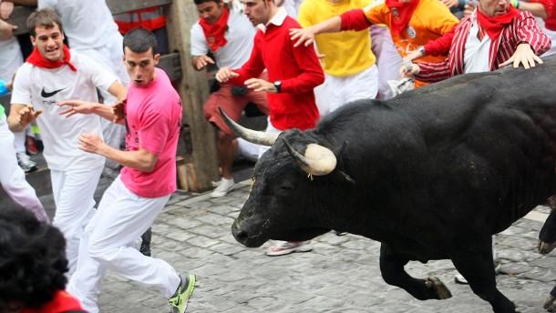 Pamplona färbt sich rot
