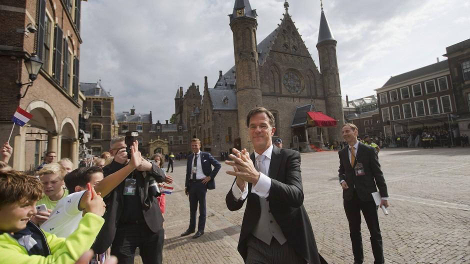 Am schönsten ist's in Den Haag: Ministerpräsident Mark Rutte am Prinsjesdag im Parlamentsviertel