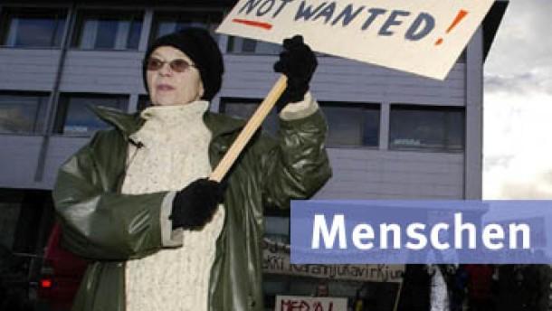 Protest auf isländische Art