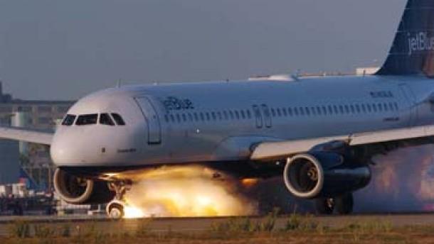 Airbus gelingt Notlandung in Los Angeles