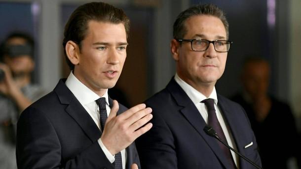 FPÖ erhält Schlüsselministerien in neuer Koalition in Österreich