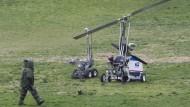Mini-Hubschrauber landet vor Kapitol in Washington