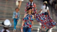 In den Farben der Insel: Models auf dem Catwalk bei der Chanel-Show in Havanna. Es war die erste Show des Modehauses in Lateinamerika.