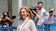 Cristina von Bourbon am Freitag vor dem Gerichtsgebäude in Palma