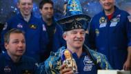 Rekord-Astronaut zurück auf der Erde