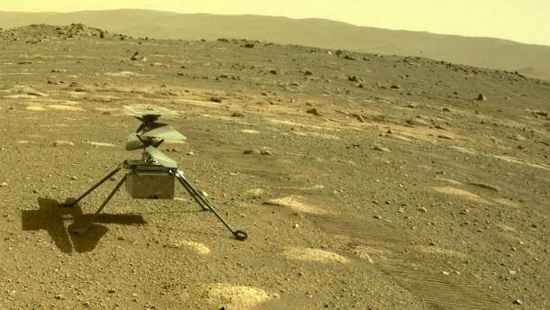 """Erstflug von Hubschrauber """"Ingenuity"""" über dem Mars verschoben"""