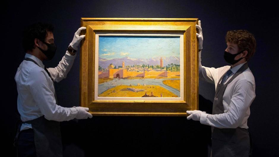 """""""Tower of the Koutoubia Mosque"""": Winston Churchill malte das Bild bei einem Besuch in der marokkanischen Stadt Marrakesch im Jahr 1943."""