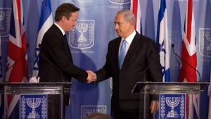 Camerons Israel-Besuch von Gewalt überschattet